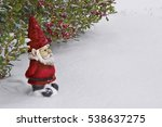 Gnome With Red Hat And Suit...