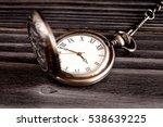 deadline concept pocket watch... | Shutterstock . vector #538639225