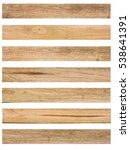 Isolate Wood Plank Brown...