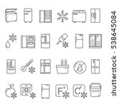 outline fridge icons  signs and ... | Shutterstock .eps vector #538645084
