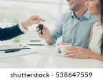close up photo of broker giving ... | Shutterstock . vector #538647559