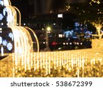 blurred image bokeh of people... | Shutterstock . vector #538672399