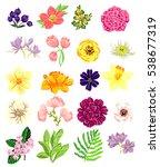 flower set | Shutterstock . vector #538677319