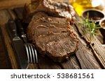 braised beef brisket with herbs ...   Shutterstock . vector #538681561
