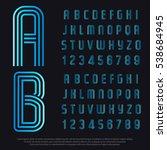 linear font. modern gradient...   Shutterstock .eps vector #538684945