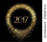vector 2017 happy new year... | Shutterstock .eps vector #538687111