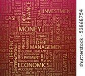 money. word collage. vector... | Shutterstock .eps vector #53868754