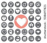 valentine icons set.vector...