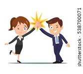 happy businessman and...   Shutterstock .eps vector #538700071