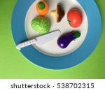 set of plastic miniature... | Shutterstock . vector #538702315