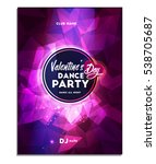 happy valentine's day . dance...   Shutterstock .eps vector #538705687