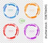 circle set. vector illustration....   Shutterstock .eps vector #538706041