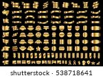 label ribbon banner gold vector ... | Shutterstock .eps vector #538718641