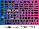 label ribbon banner black... | Shutterstock .eps vector #538718731