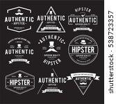vintage hipster label vector... | Shutterstock .eps vector #538723357