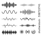 signal wave set. vector analog... | Shutterstock .eps vector #538723741