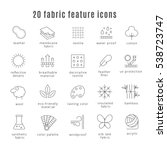 fabric feature line icons.... | Shutterstock .eps vector #538723747