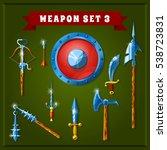 set of cartoon weapons. vector...