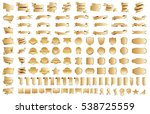 banner ribbon label gold vector ... | Shutterstock .eps vector #538725559