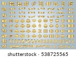 banner ribbon label gold vector ... | Shutterstock .eps vector #538725565