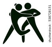 isolated dancing icon. black... | Shutterstock .eps vector #538728151