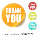 """vector """"thank you"""" stickers 