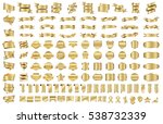 ribbon banner label gold vector ... | Shutterstock .eps vector #538732339