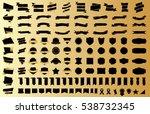 ribbon banner label black... | Shutterstock .eps vector #538732345