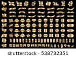 ribbon banner label gold vector ... | Shutterstock .eps vector #538732351