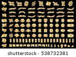 ribbon banner label gold vector ... | Shutterstock .eps vector #538732381