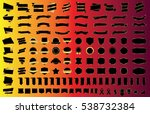 ribbon banner label black... | Shutterstock .eps vector #538732384