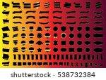 ribbon banner label black... | Shutterstock .eps vector #538732384