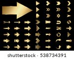 arrow vector gold curve line up ... | Shutterstock .eps vector #538734391