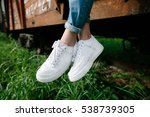 female sneakers. white female... | Shutterstock . vector #538739305