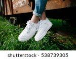 Female Sneakers. White Female...