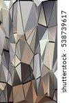 randomly scattered triangles of ... | Shutterstock .eps vector #538739617