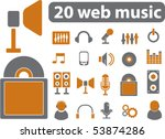 20 web music signs. vector | Shutterstock .eps vector #53874286