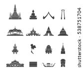 landmark of thailand icons set... | Shutterstock .eps vector #538751704