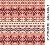 nordic pattern illustration | Shutterstock .eps vector #538753075