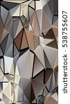 randomly scattered triangles of ... | Shutterstock .eps vector #538755607