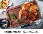 grilled fried roast chicken... | Shutterstock . vector #538757221