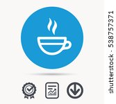 tea cup icon. hot coffee drink... | Shutterstock .eps vector #538757371