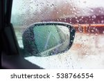 car mirror with water drops on... | Shutterstock . vector #538766554