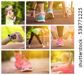 Collage With Images Of Fitness...
