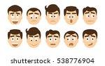 man emoji set on white... | Shutterstock . vector #538776904