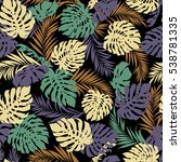 tropical plants pattern | Shutterstock .eps vector #538781335