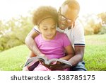 african american family reading ... | Shutterstock . vector #538785175