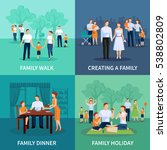 family concept icons set with... | Shutterstock . vector #538802809