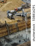 builders build a foundation... | Shutterstock . vector #538816291