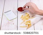 fast food  unhealthy eating ... | Shutterstock . vector #538820701